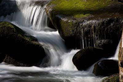 waterfall, slow shutter